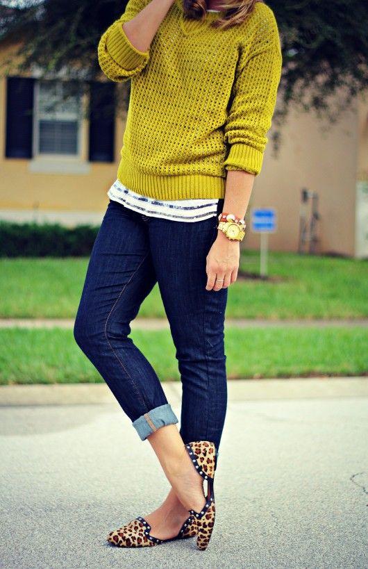 TJ Maxx Fall Lime Sweater 3 Ways @CC Corso Como