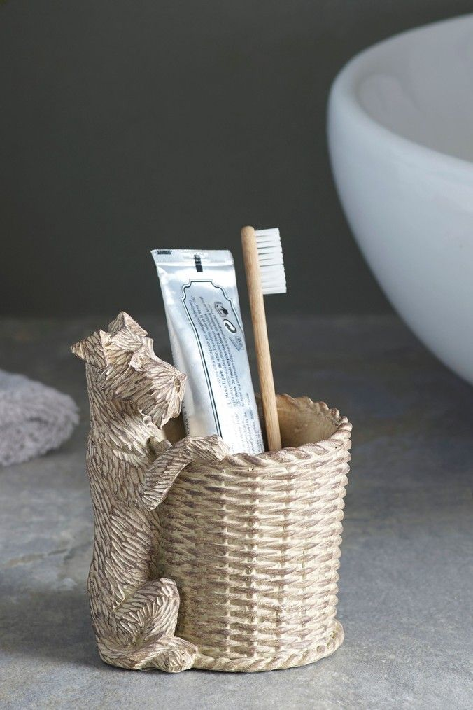 Next Digby Dog Toothbrush Tidy Natural Dog Toilet Dog Toothbrush Dog Toilet Roll Holder