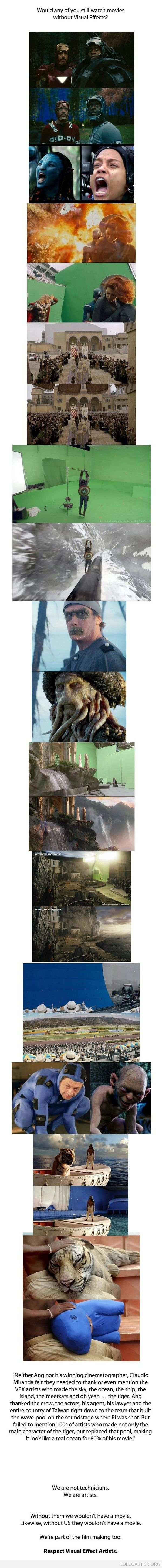 Would You Watch Any Of These Films Without Visual Effects?