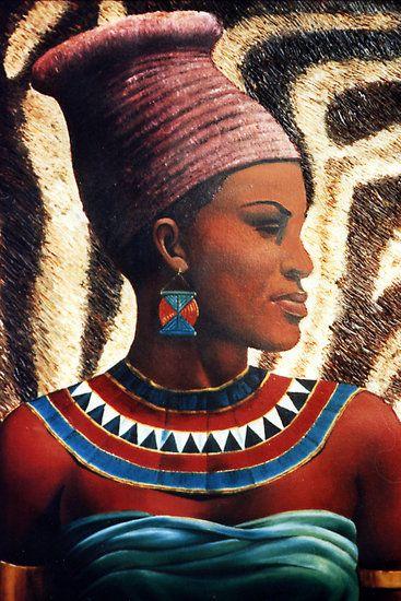 143 best images about Art - African Women Portrait on ...