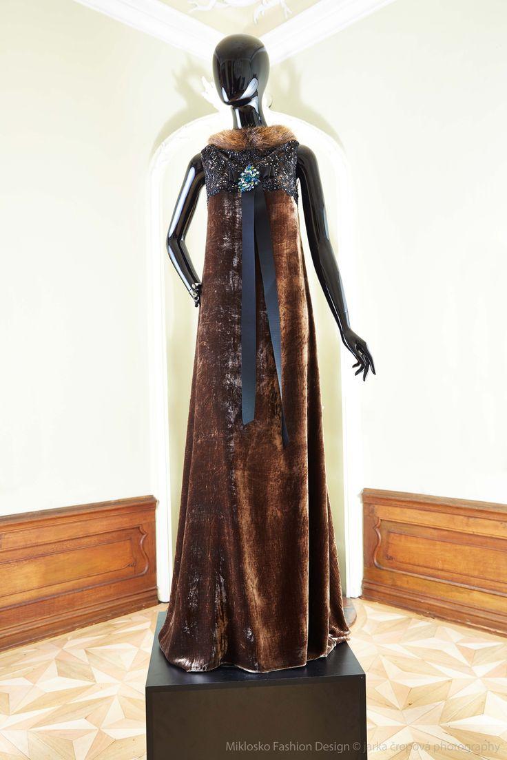 3. MFD Dark brown and black ball gown. www.mikloskofashiondesign.sk