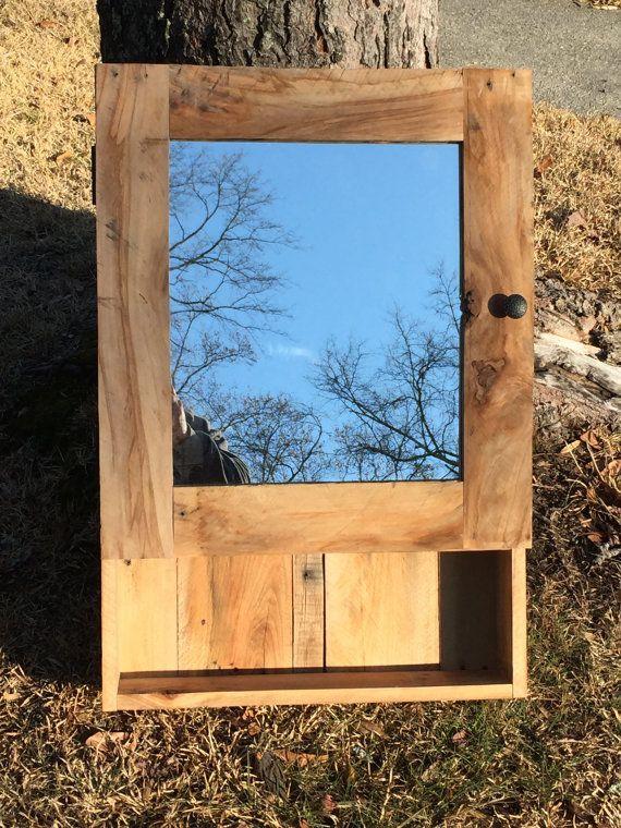 pallet wood medicine cabinet