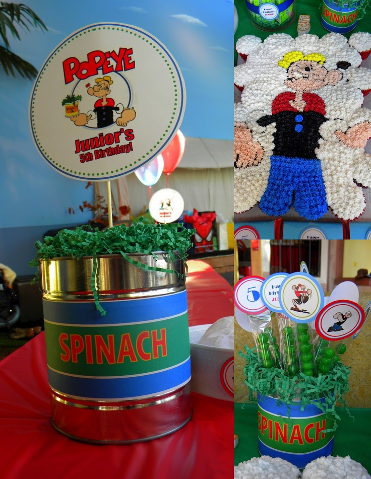 MKR Creations: Popeye the Sailor Man Birthday Party Theme