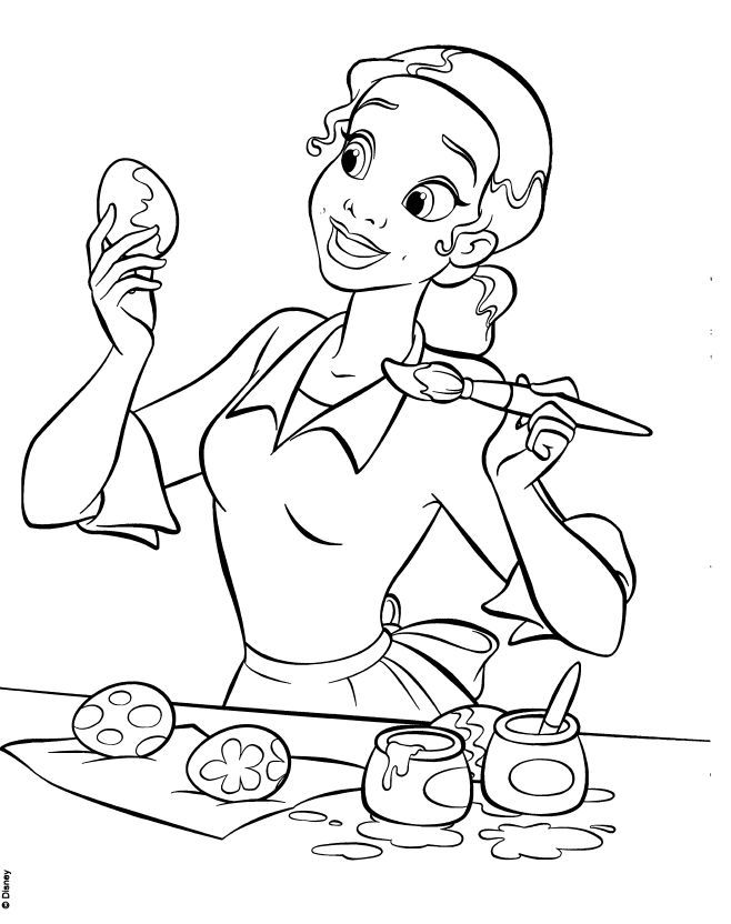 Tiana And Naveen Coloring Pages Media Scans Movie The