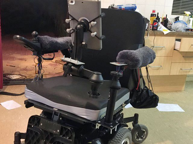 RAM Mounts are the ducks nuts for any wheelchair application. Thanks Craig for the pic!