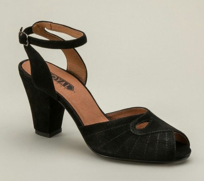 """1da0eb2fe25b5 Royal Vintage 1940s repro """"Nita"""" Peep Toe Heels   Retro, Vintage ..."""