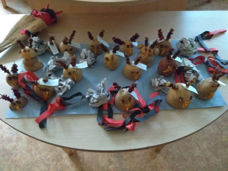 Čert z brambory,práce 3-4 letych dětí