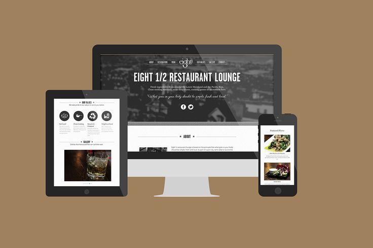 Indeliable Designs @wemakemarks creates web design for @eightandahalf