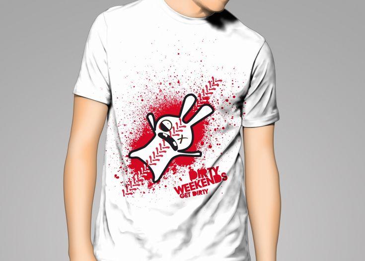 camiseta Conejo Aplastado. #T-shirt #Rabbit