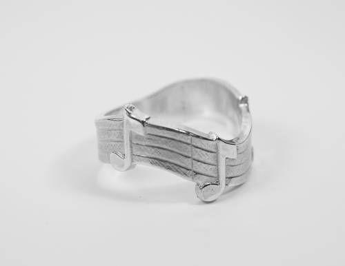 Anillo notas musicales, joyas musicales plata, anillo música,  anillo notas, anillo pentagrama