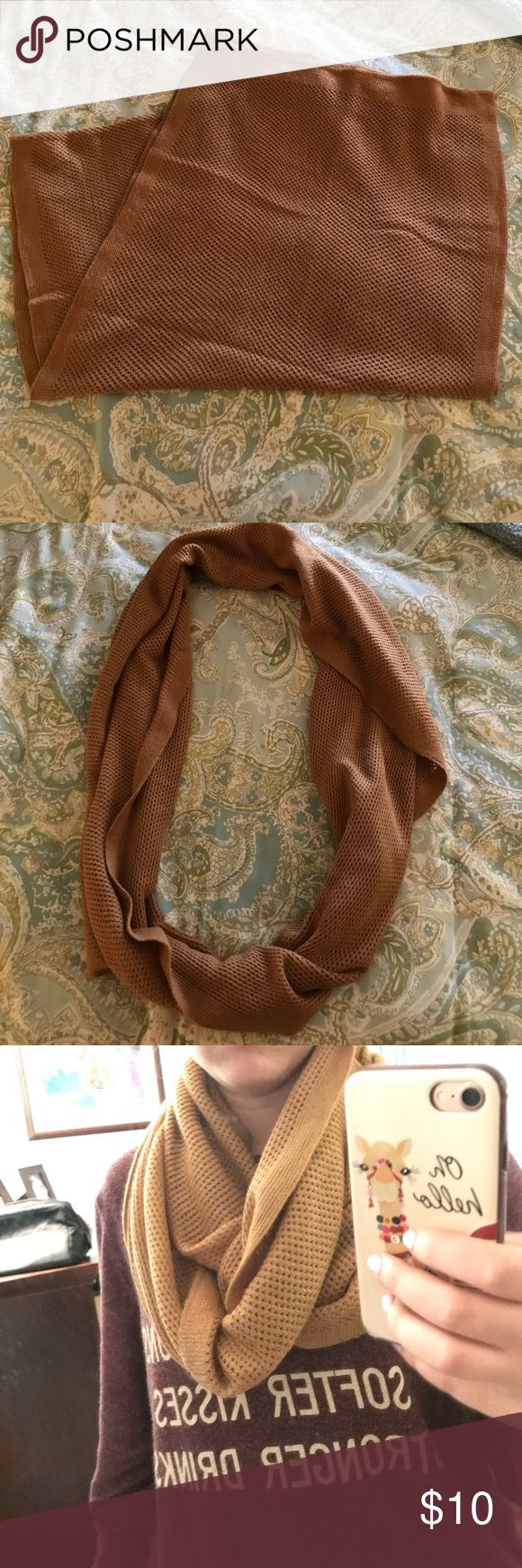 Nordstrom's Infiniti scarf Tan Infiniti scarf from Nordstrom's b.p. department in great condition! Nordstrom Accessories Scarves & Wraps