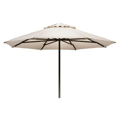 Telescope Casual 11 ft. Sunbrella Powder Coated Aluminum Round Commercial Umbrella Bay Brown - 65K64A01