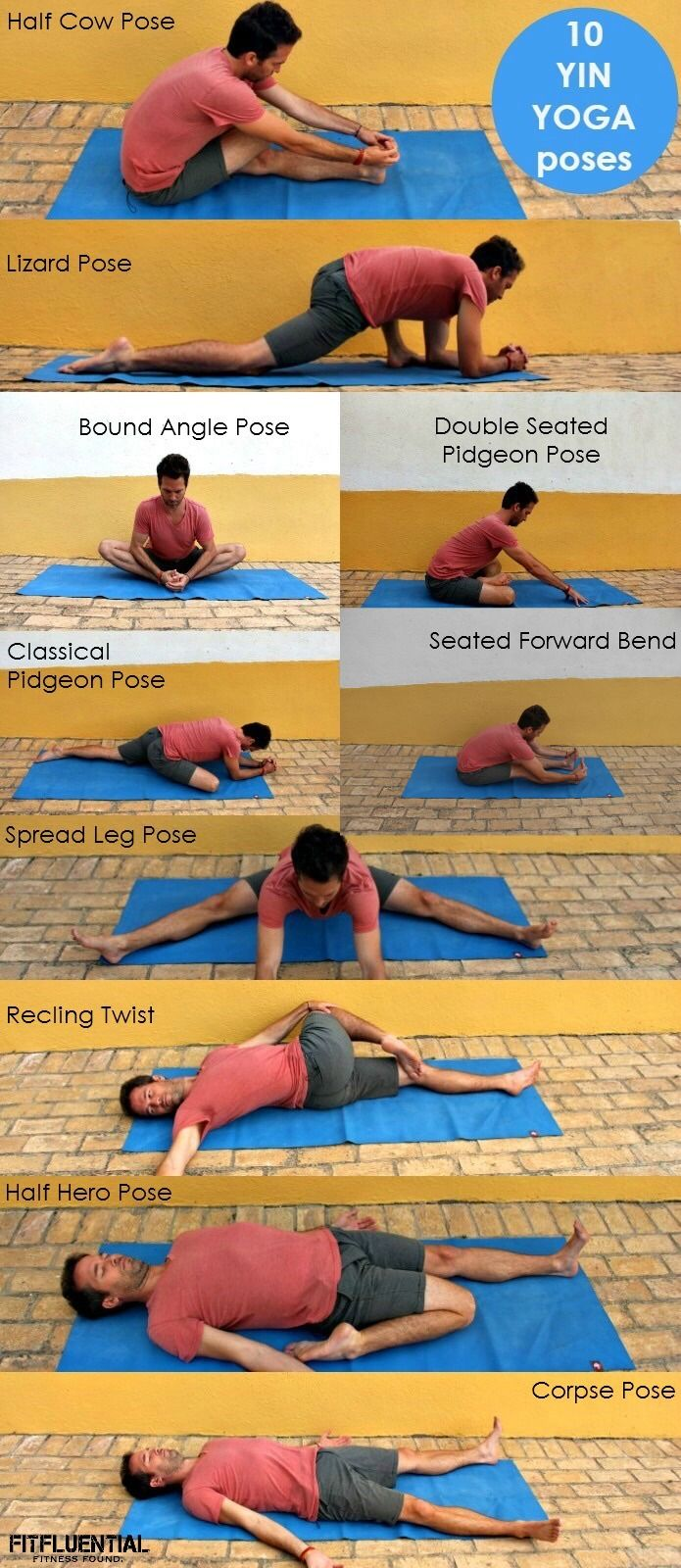 Restorative YIN Yoga poses from the Ultimate Yogi, Travis Eliot