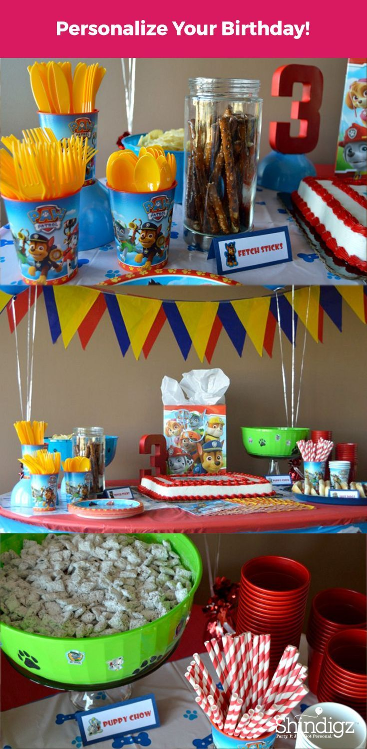 Celebrate with the Paw Patrol pals with party supplies from Shindigz! Check out the Paw Patrol Party that The Blue Eyed Dove styled using Shindigz products!