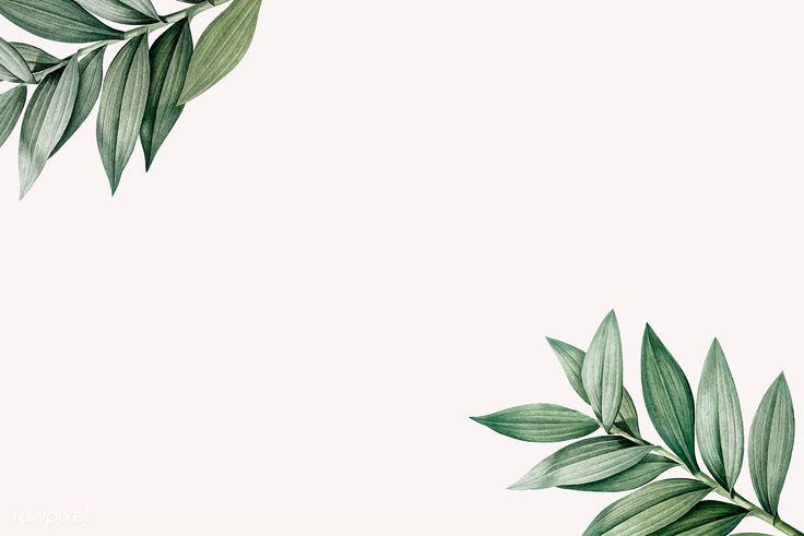 Download premium vector of Tropical botanic leaves ...