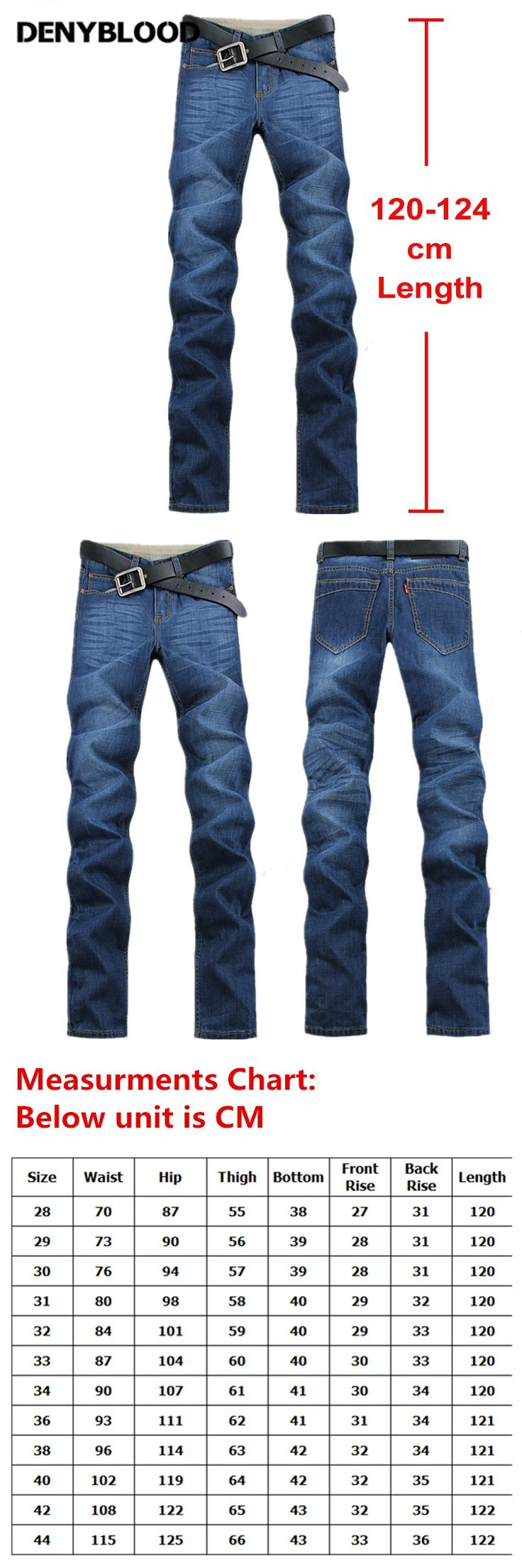 120cm Extra Long Jeans Men Plus Size 28-40 42 44  Mens Cotton Denim 2017 New Autum Winter Straight Classic Stonewash Jeans 8033