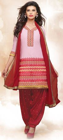 Buy Fashion Now Baby Pink Embroidered Patiala Salwar Kameez Online online at best prices. Get discount on Patiala Salwar Suit, Salwar Kameez with home delivery from Fashionnow.