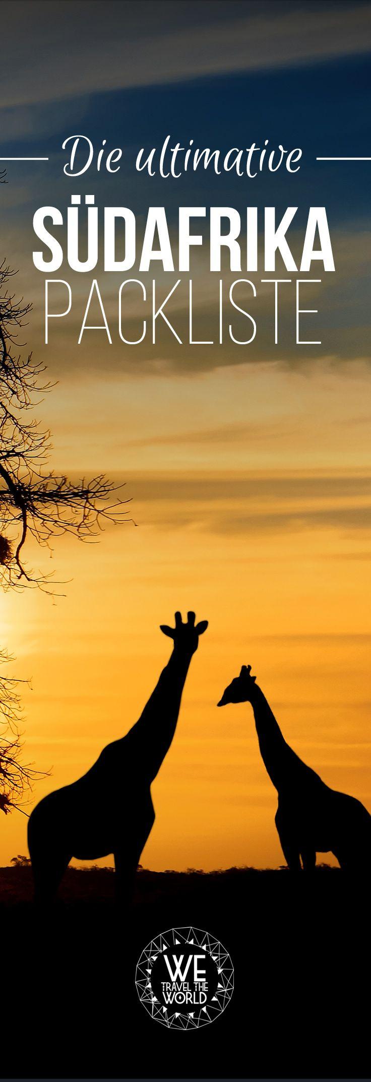 Die ultimative Südafrika Packliste. In unserer Packliste findest du alles, was du für deinen 3-wöchigen Südafrika Urlaub brauchst. #südafrika #packliste #urlaub  Bild: Shutterstock –https://shutr.bz/2CRtWWP