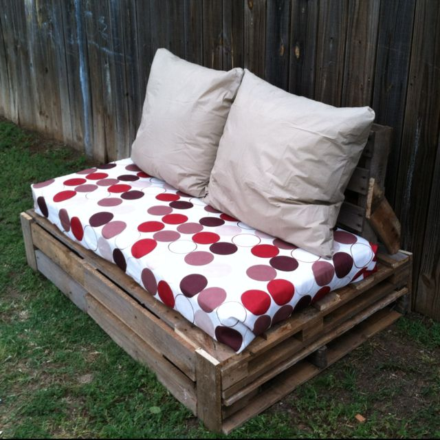 we made this for less than 50 out if palletsa crib mattress and pillows