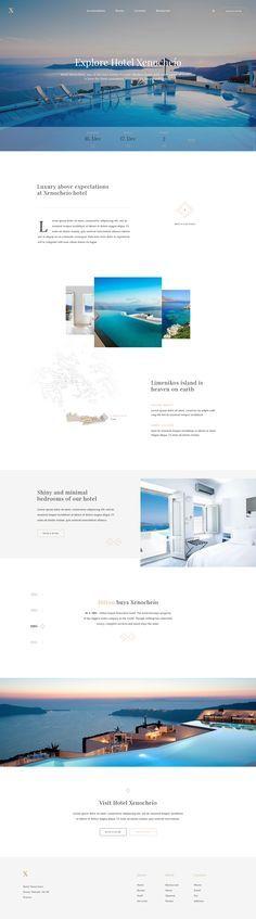Luxury Hotel - Homepage by Martin Ehrlich #web #design #layout #userinterface #website < repinned by Alexander Kaiser | visit www.kaiser-alexander.de