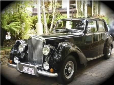 1950 Classic Bentley, Seats 4 Passengers + Chauffeur #WeddingCarsBrisbane #ClassicWeddingCarHireBrisbane www.premier-limos.com.au