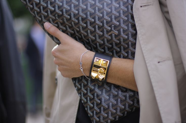Hermès Collier de Chien bracelet, Goyard clutch