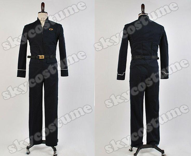 Babylon 5 Black Uniform Cosplay Costume Jacket Pants Uniform Suit Movie Cosplay Costume from Babylon 5