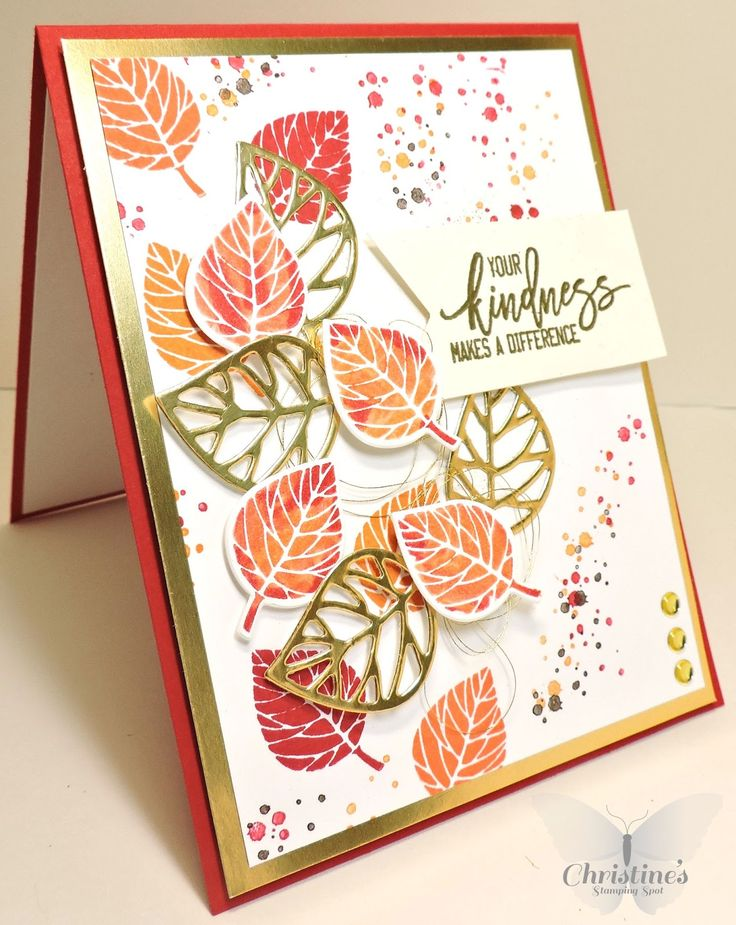 Thank you card using stampin' Up!'s Thoughtful Branches stamp set; stampin' up; thoughtful branches; Christine's Stamping Spot