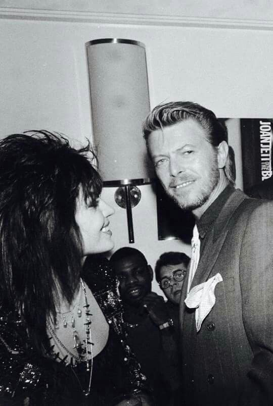 Joan Jett and David Bowie 80s.