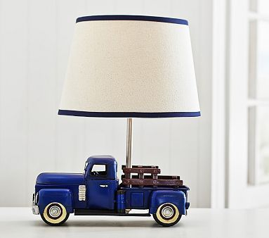 Truck Lamp #pbkids - the shade isn't my favorite but I really like the base