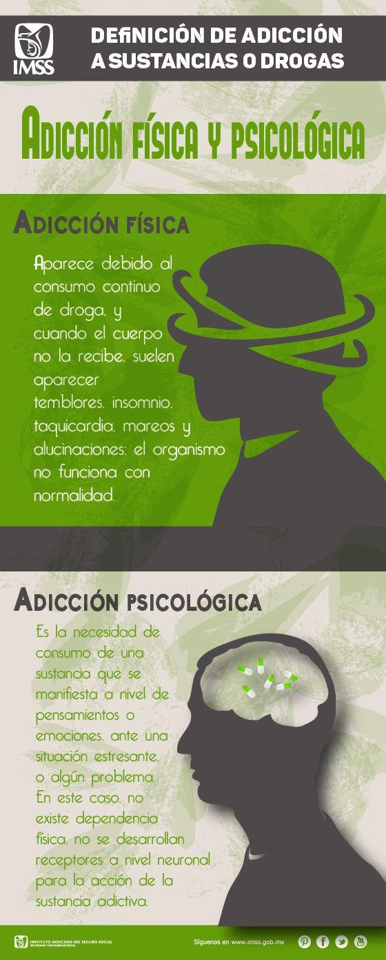 Adicción Física y Psicológica a sustancias o drogas.