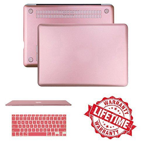 2016 Macbook Pro 15 Case, IC ICLOVER 2 In 1 Rubberized Matte Frosted Protective Cover & Keyboard Skin for NEWEST Apple MacBook Pro 15 inch A1707 fits Touch Bar & Touch ID Ver, Rose Gold