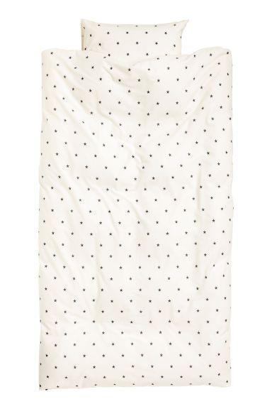 Sada povlečení s hvězdičkami - Bílá/hvězdičky - HOME   H&M CZ 1