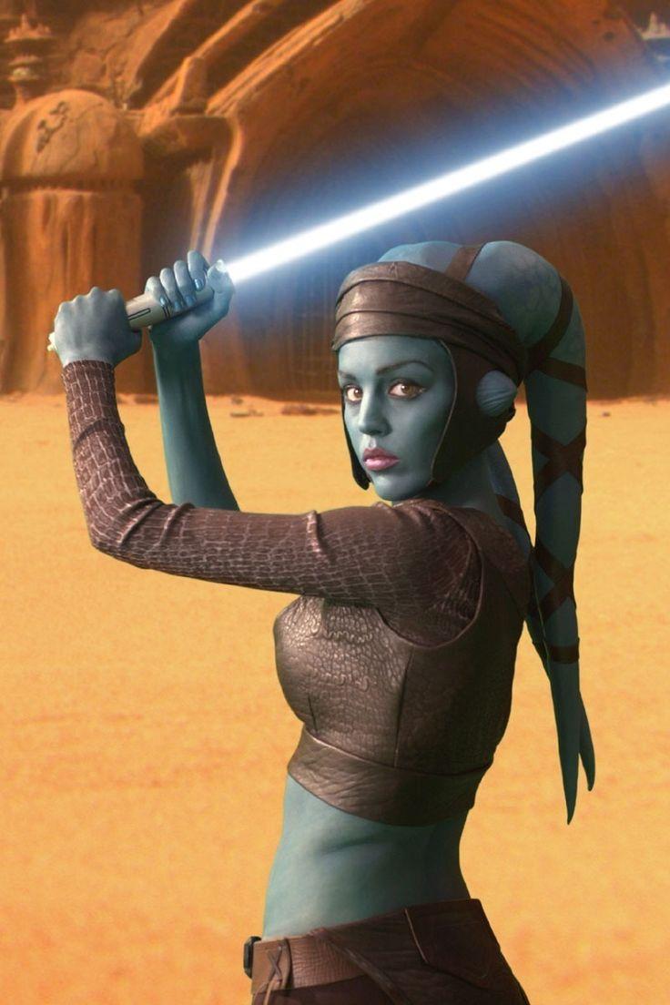 """Aayla Secura """"Amy Allen"""" Star Wars: Episode II - Attack Of The Clones (2002)"""