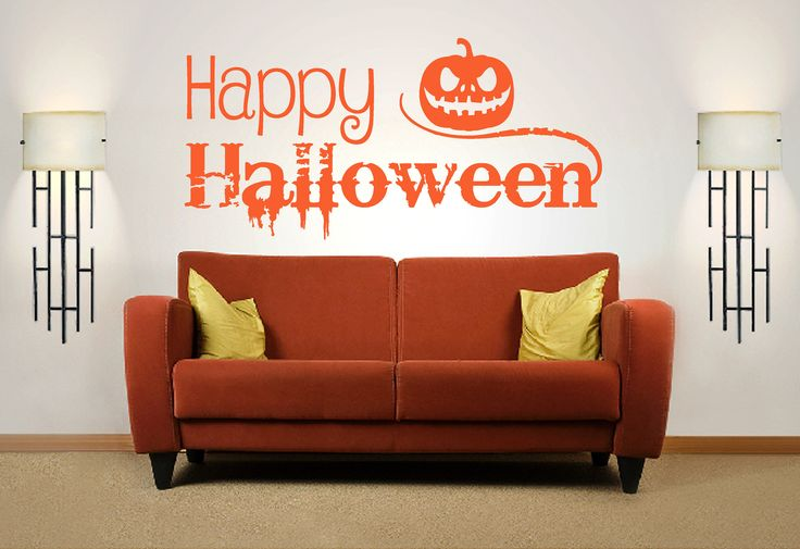 Happy Halloween Quote. Vinyl Wall Art Sticker Decal Mural. Home, Wall Decor. Party, Mirror, Window. Pumpkin. Jack O Lantern by Fabuloustickers on Etsy https://www.etsy.com/listing/549101716/happy-halloween-quote-vinyl-wall-art