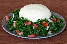 Ugali and sukuma wiki