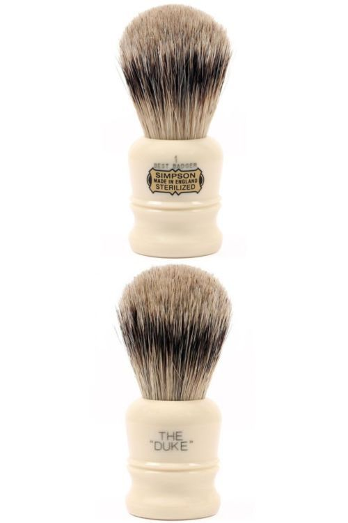 Shaving Brushes and Mugs: Simpsons Duke 1 Best Badger Shaving Brush Wet Shave Brushes By Royalshave Usa BUY IT NOW ONLY: $67.96