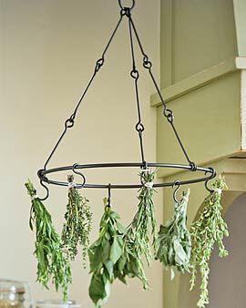 Herb drying rack.  DIY