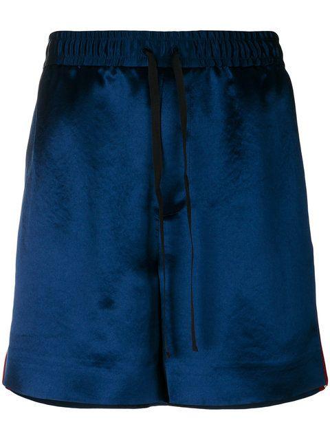 Retro Side-Stripe Sateen Sweat Shorts a2637e6b2988