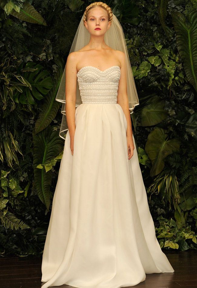 Just ignore the scary model face and appreciate this Naeem Khan Fall/Winter 2014 Wedding Dresses