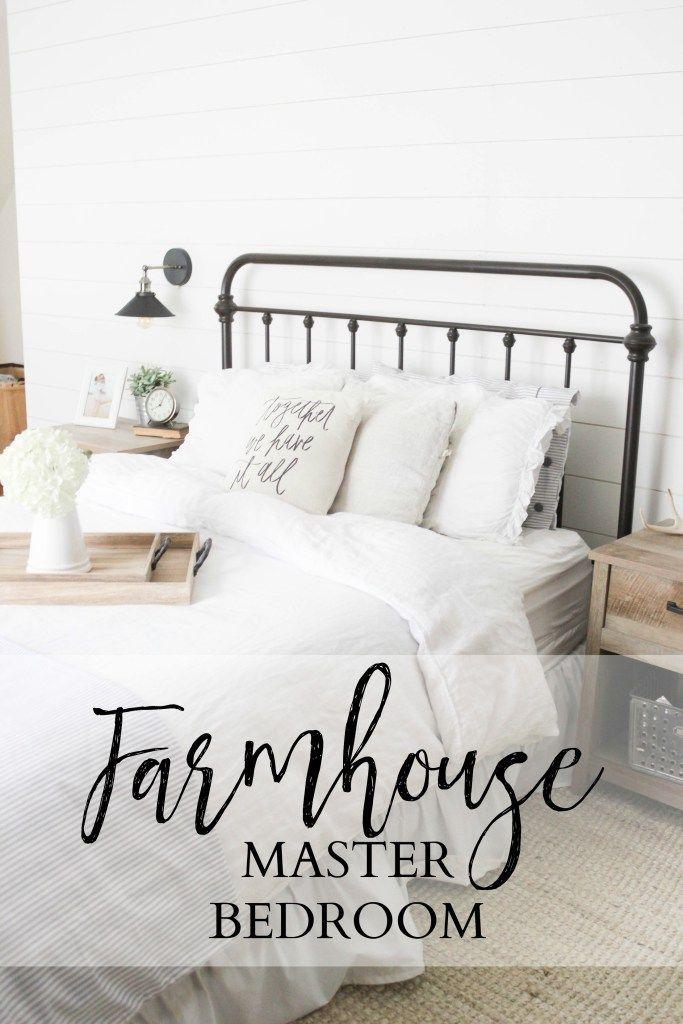 Farmhouse Master Bedroom Decor | Master Bedroom Reveal | Decorating the Master Bedroom | Home Decor Ideas for the Master Bedroom || Lauren McBride