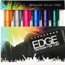 Hair Chalk - Metallic Glitter Collection - Edge Chalkers - Lasts up to 3 Days Sealant Built in - 80 Applications Per Stick - No Mess - As Seen on the Voice - Works with Any Color Hair | Temporary Hair Color