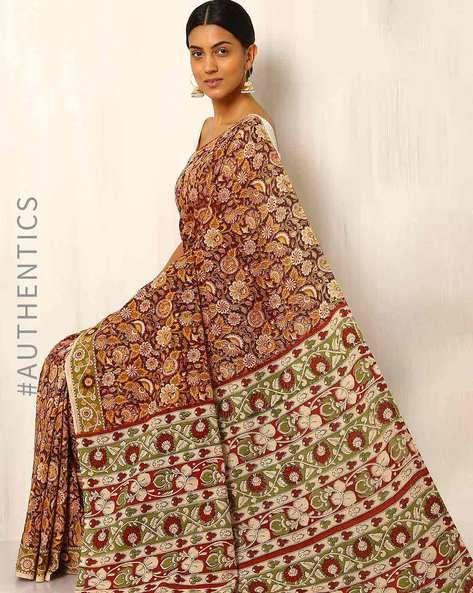 Kalamkari Cotton Silk Saree