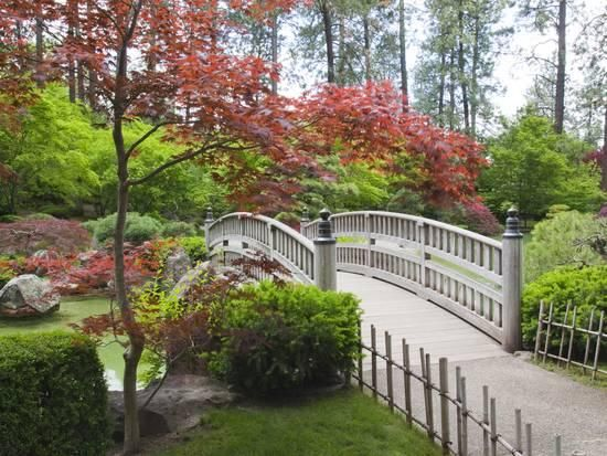 Nishinomiya Japanese Garden, Manito Park, Spokane, Washington, Usa