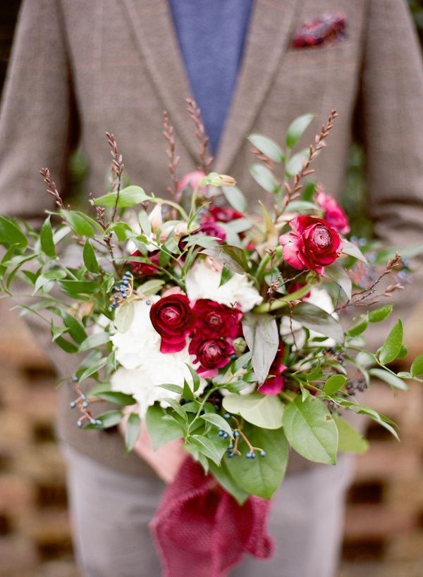 Carnation and ranunculus bouquet