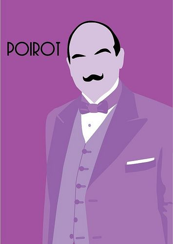 Poirot! The fabulous Belgian detective as depicted by Agatha Christie and portrayed by David Suchet.