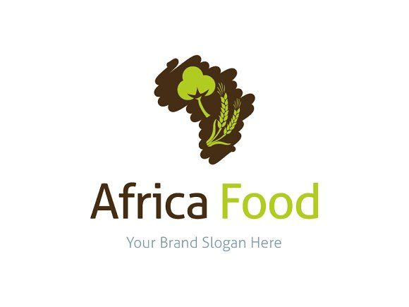 Africa Food Logo Template by Premiem Design Resources on @creativemarket