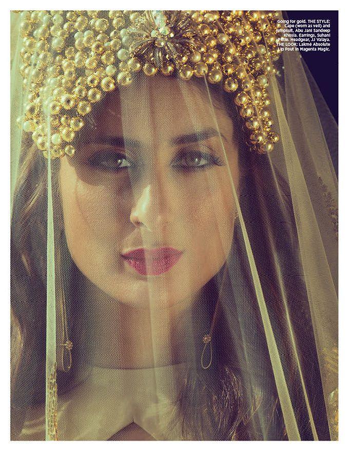 kareena kapoor on cover Bazaar Bride 2015.