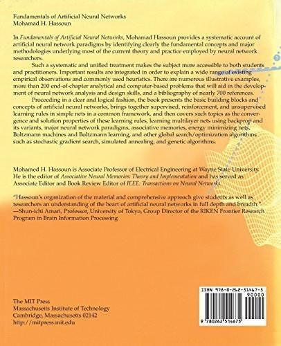 Fundamentals of Artificial Neural Networks (MIT Press)