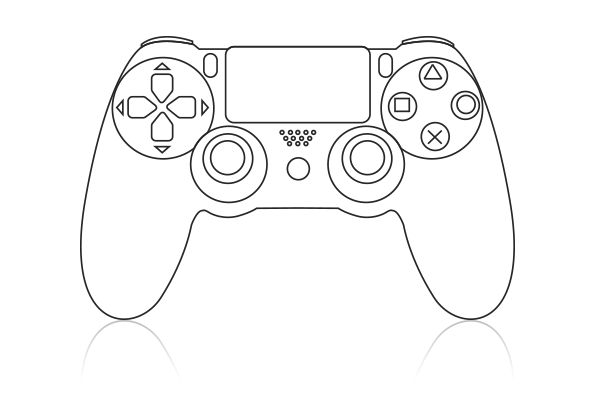 Image result for videogame controller clipart ps4